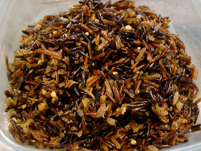 Wild rice in clear container