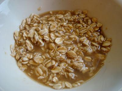 1 Minute GF Vegan Apple Crumble ingredients mixed up