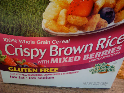 Crispy Brown Rice with Mixed Berries Cereal