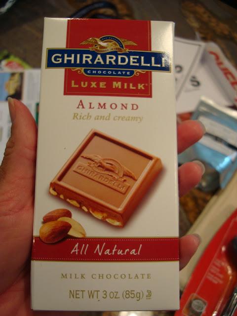 Bar of Ghiradelli Almond Milk Chocolte