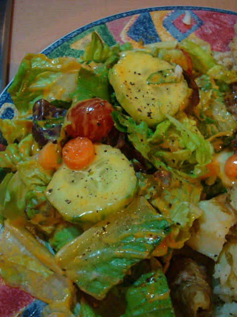 Close up of salad on plate