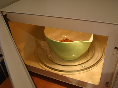 Butter, peanut butter and butterscotch chips in microwave