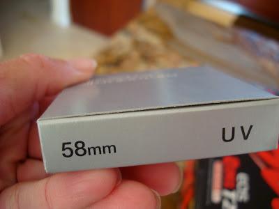 58 mm UV filter