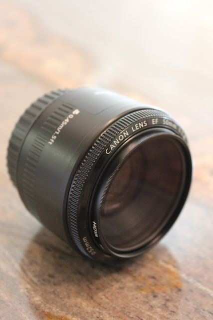Side view of camera lens