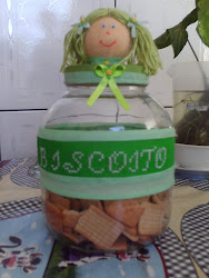 Vidro para biscoitos !!