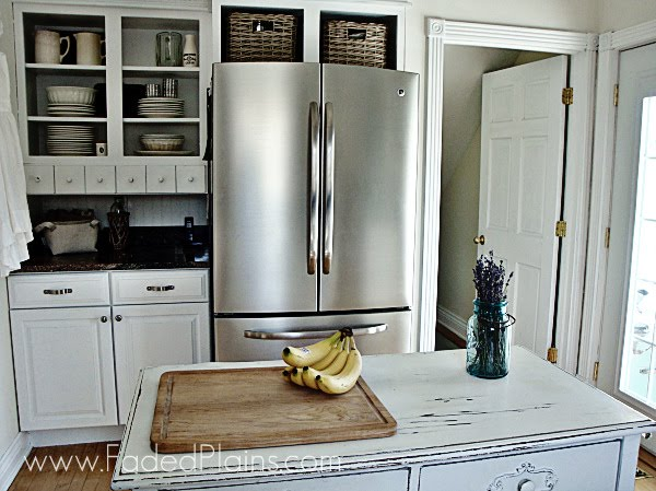 The amusing Beadboard kitchen backsplash and butcher block photograph