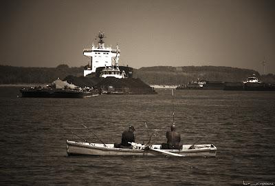 pescari pe Dunare la Braila