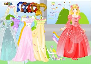 Juego de vestir a la princesa de cuento
