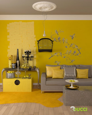 Yellow Living Room on Modern Living Room Interior Design Ideas   Home Interior Design