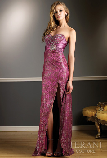 Strapless Long Prom Dress Fashion 2010