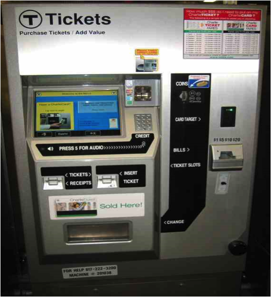 mbta fare vending machine locations