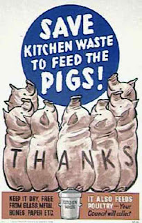 wartime poster save scraps to feed pigs