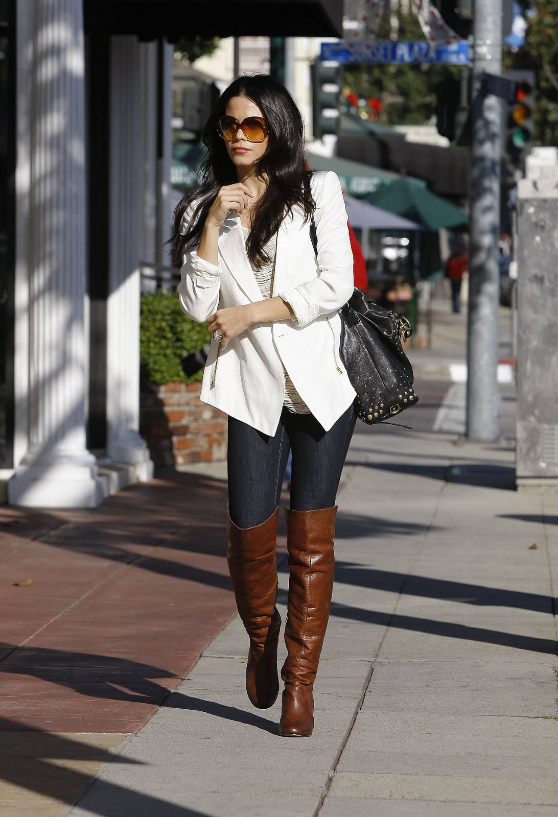 jeans and boots more celebrities in boots. Black Bedroom Furniture Sets. Home Design Ideas