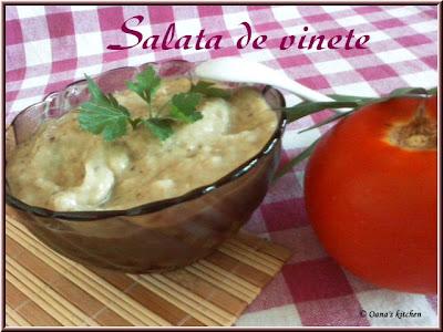 Articole culinare : SALATA DE VINETE CU ARDEI.