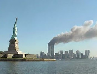 World Trade Center Crash September 11 Statue of Liberty