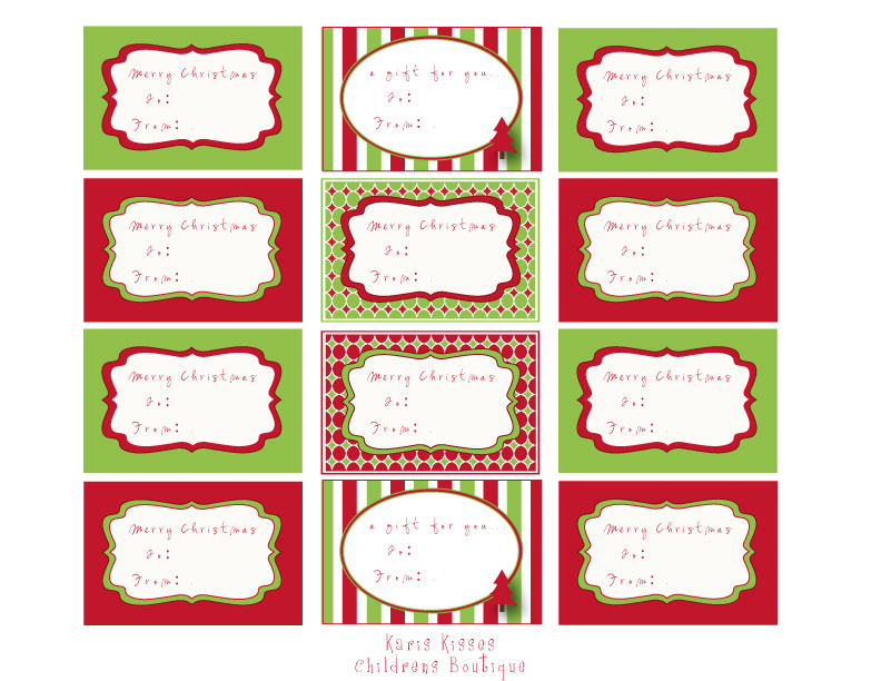 Great little Holiday gift tag labels...LOVE THESE....