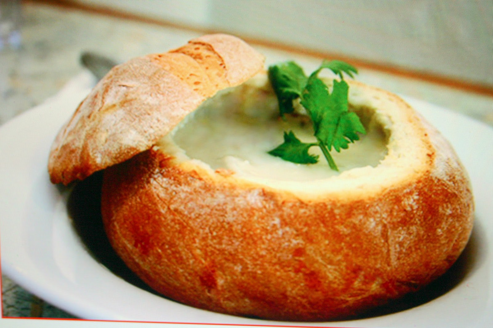 CHEESY CHICKEN SOUP in BREAD (SOUP) BOWLS - Sowing the Seeds