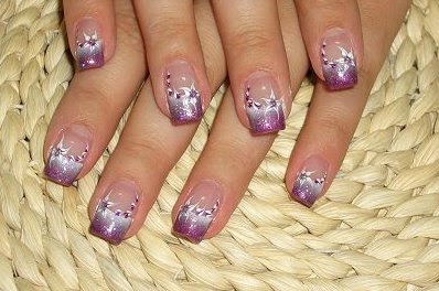 24 Stylish manicure purple manicure perfect manicure nails art manicure decorated with flowers lilac shade Lilac Nails design lilac nails art fashion manicure amazing polish