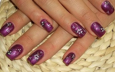 25 Stylish manicure purple manicure perfect manicure nails art manicure decorated with flowers lilac shade Lilac Nails design lilac nails art fashion manicure amazing polish