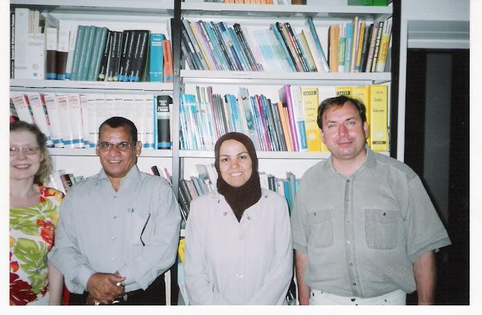 حسام مازن =بروفيسور كوميتز=دكتورة هالة السنوسي  من تربية بني سويف-وسكرتيرة قسم الكيمياء بجامعة نورن