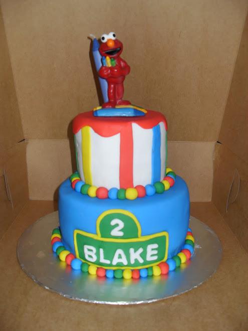 Elmo B-Day Cake