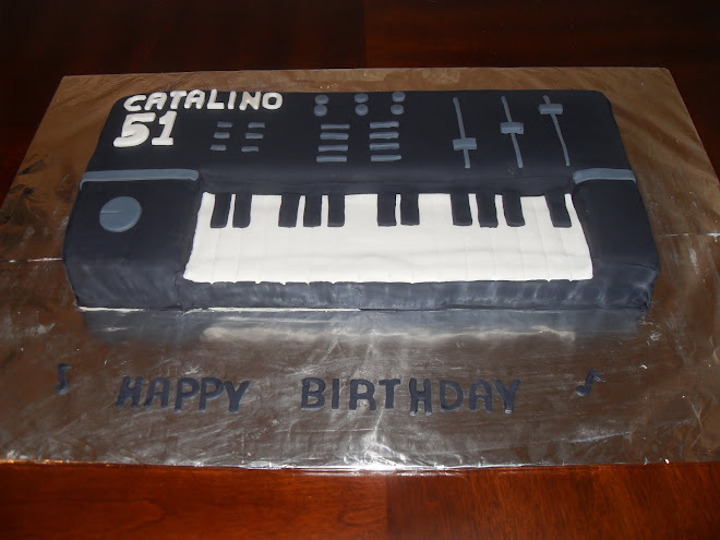 Catalino's Keyboard B-Day Cake