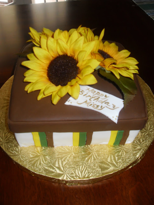 Sunflower Gift Box Cake