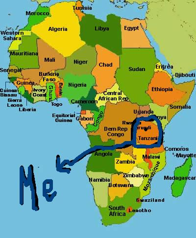 map of africa with countries and capitals. a map of africa with countries
