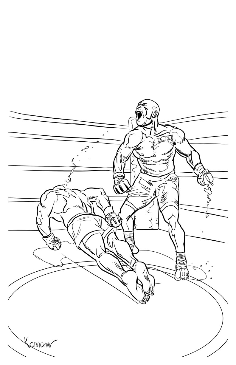 ufc coloring pages - photo#13
