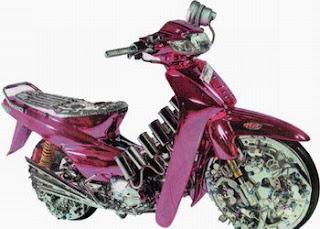modif+motor+supra+2001+bunglon Modifikasi Motor Supra X Full Pink Krom Takometer Variasi