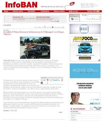 Primer Encuentro Sudamericano de Volkswagen's refrigerados por aire y derivados en Buenos Aires - InfoBan