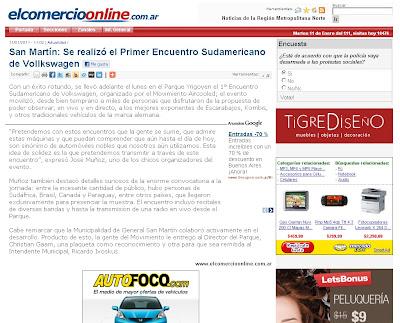 Primer Encuentro Sudamericano de Volkswagen's refrigerados por aire y derivados en Buenos Aires - El comercio online