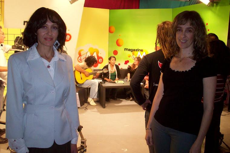 """Anuncio del Recital """" Mucho más que dos"""" en los estudios de Canal Diez - Roca."""