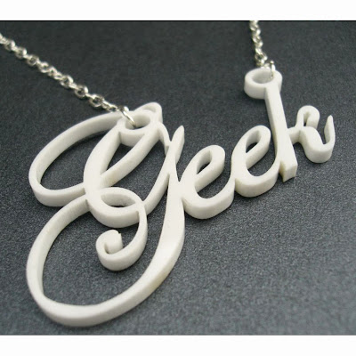laser cut geek necklace