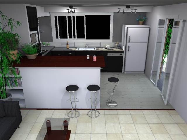 Etude et conception 3d modifications ouvertures et for Conception 3d appartement