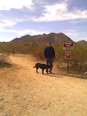 Jim & Bo on San Tan Mountain Trail