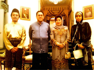 HRHs (The then) Sultan &amp; Raja Perempuan Kelantan with me and hubby