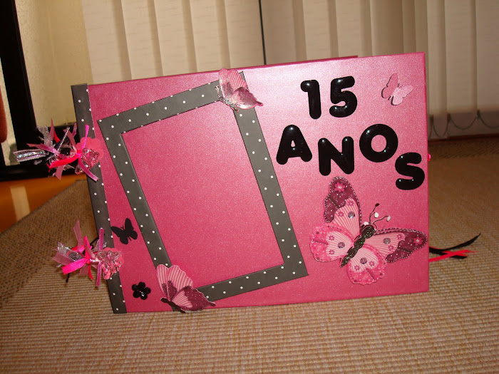 """Livro de Assinatura para Festa de 15 Anos """"Borboletas"""""""