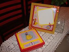 """Kit de quadro mais caixinha da """"Branca de Neve"""""""