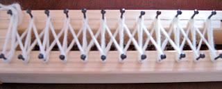 i primi punti con i knifty knitter