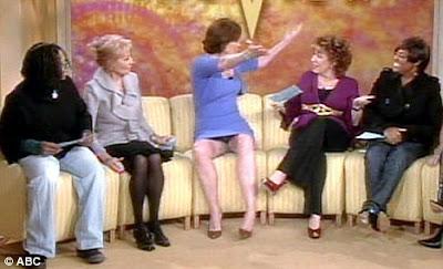 es que la actriz era entrevistada en el programa The View cuando