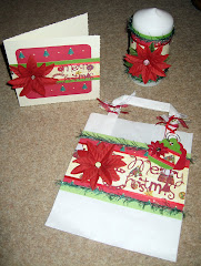 Candle, Gift Bag and Christmas Card