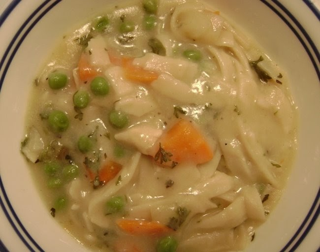 don't need no stinkin' wheat: thick chicken noodle soup