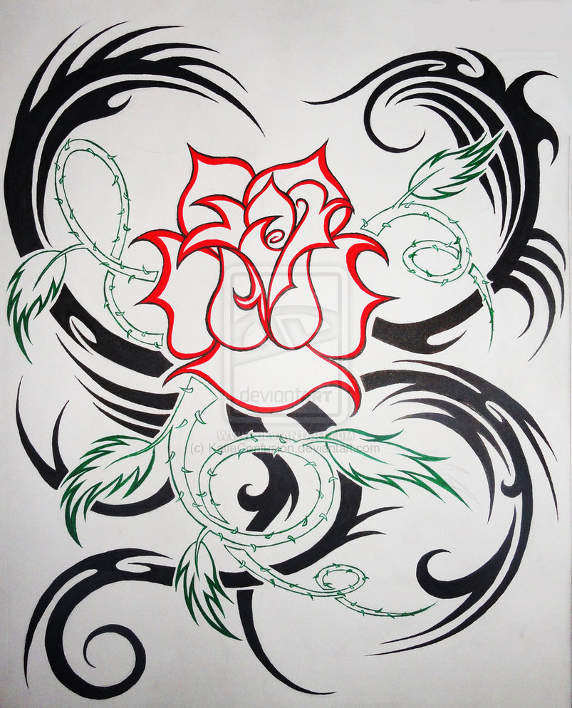 Tribal Hearts and Roses