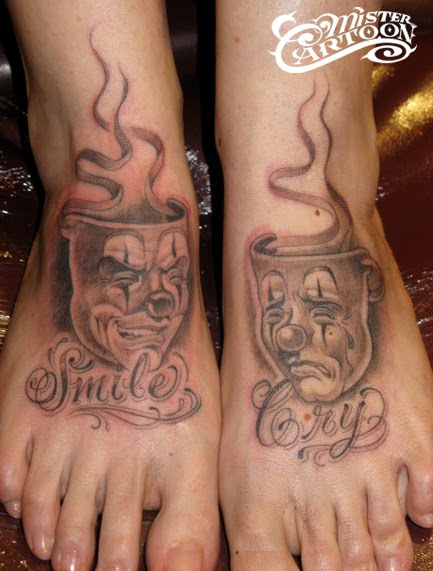 Tags: mister cartoon, smile now cry later, tattoo