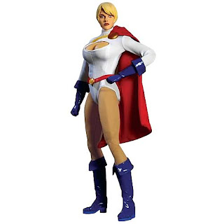 power girl y sus grandes pechos