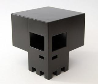 jamungo juguete de vinilo calabera negra