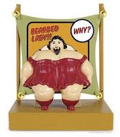 mujer barbuda juguete