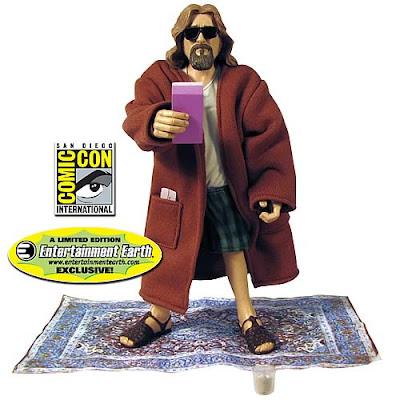 juguete de el gran lebowski sobre su alfombra