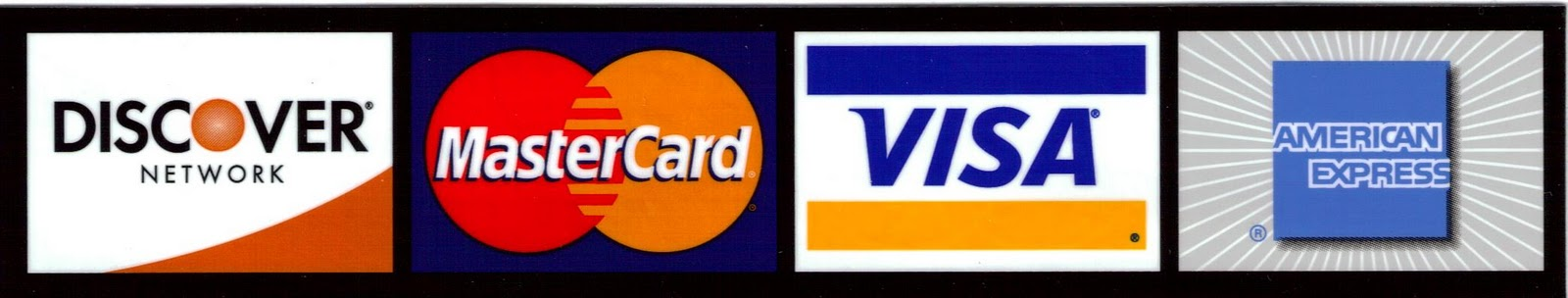 major credit cards accepted. Major credit cards are